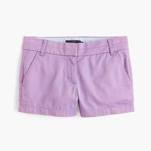 J Crew Lavender Chino Shorts